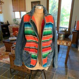 Artisan De Luxe Free People Mexican Blanket Jacket